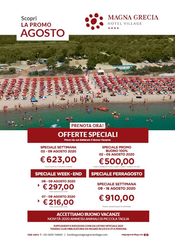 promo agosto magna grecia hotel resort